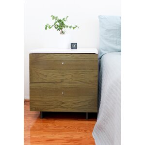 Roh 2 Drawer Nightstand by Spot on Square