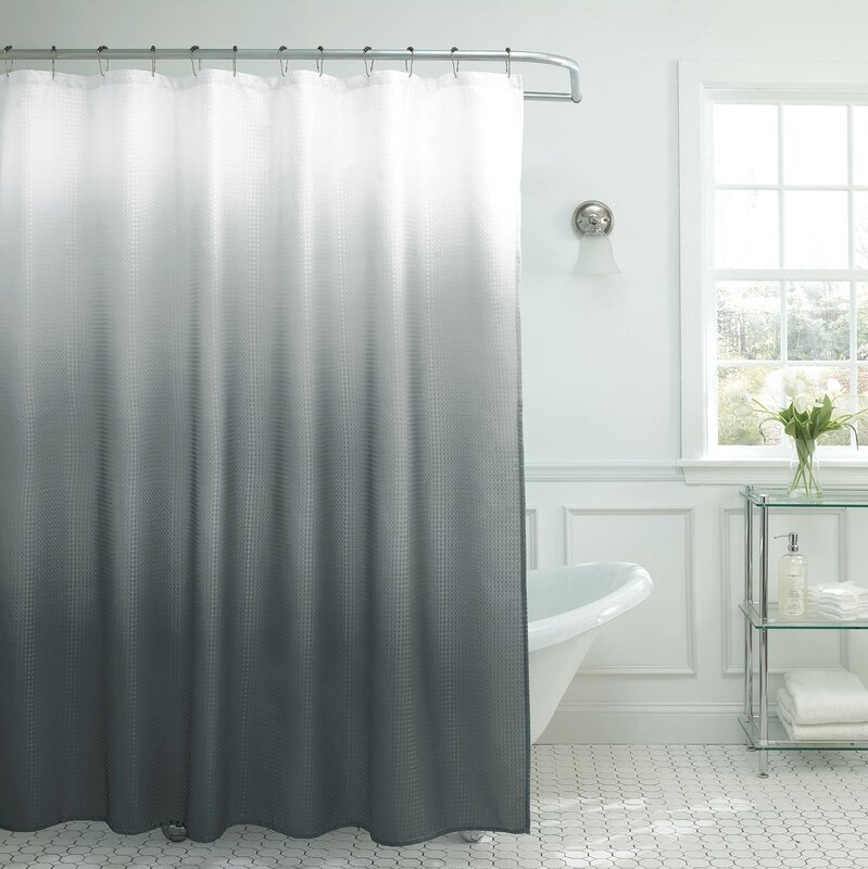 Zipcode Design Charlesworth Waffle Fabric Weave Shower Curtain