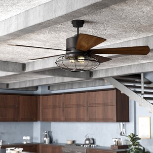 Caged Industrial Style Ceiling Fans Youll Love Wayfair