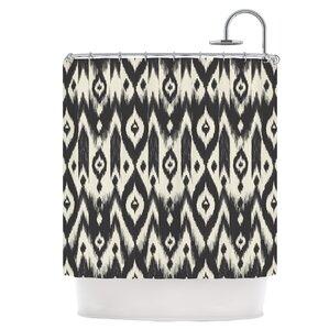 black and cream shower curtain. Black Cream Tribal Ikat Shower Curtain Curtains You ll Love  Wayfair