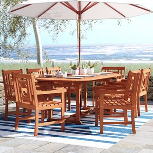 Beachcrest Home Monterry 9 Piece Dining Set