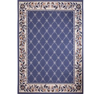 Modena Geometric Country Blue Area Rug