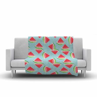 Afe Images Watermelon Slices Pattern Illustration Fleece Blanket By East Urban Home