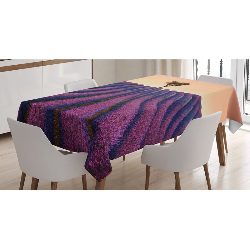 East Urban Home Ambesonne Tree Tablecloth Lavender Flowers
