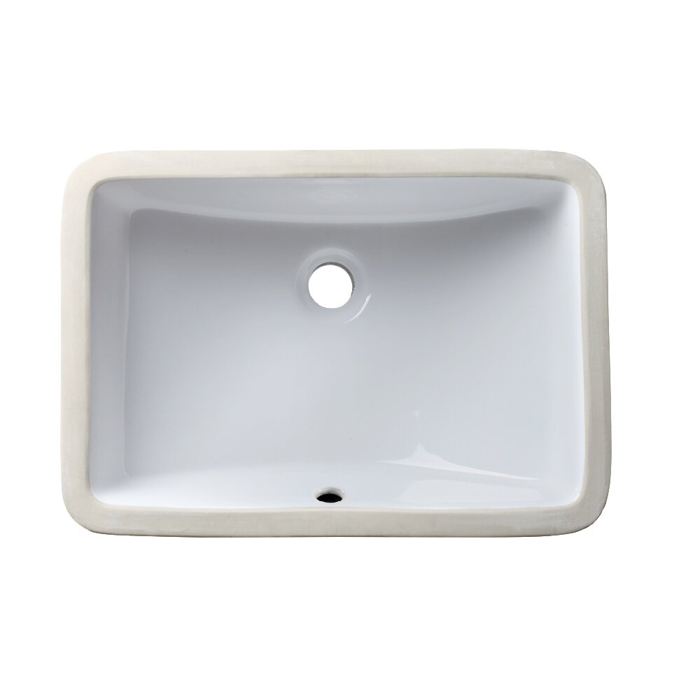Allora Usa White Craftsmanship Rectangular Undermount Bathroom Sink With Overflow Reviews Wayfair