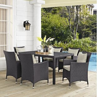 Brentwood Outdoor Patio 7 Piece Dining Set With Cushions by Sol 72 Outdoor Comparison