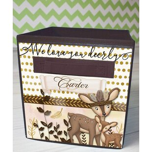 Deer Personalized Fabric Bin ByToad and Lily