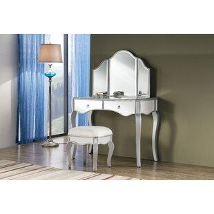 Where buy  Emerita Vanity Set with Mirror ByRosdorf Park