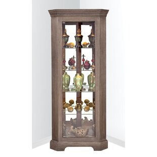 Newport I Lighted Corner Curio Cabinet by Philip Reinisch Co.