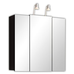 68cm X 71cm Surface Mount Mirror Cabinet With Lighting By Belfry Bathroom