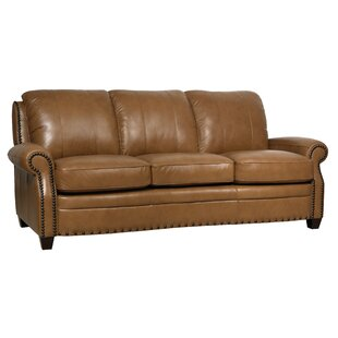 Hubbard Leather Sofa by Darby Home Co