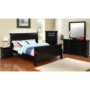 Toni Full/Double Sleigh 4 Piece Bedroom Set