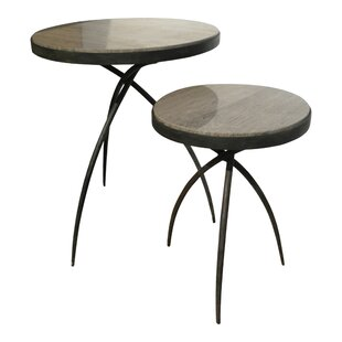 Best Deals Tripod End Table with Marble Top by Studio A Home
