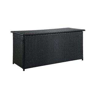 Dorian 134 Gallon Wicker Deck Box by Sol 72 Outdoor