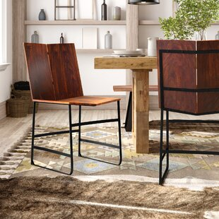 Reilly Solid Wood Dining Chair (Set of 2) Union Rustic