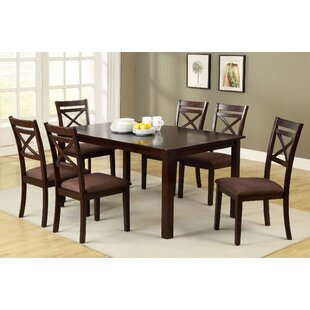 Thor 7 Piece Solid Wood Dining Set Red Barrel Studio