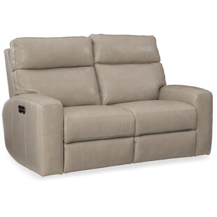 Shop Mowry Power Motion Leather Reclining Loveseat by Hooker Furniture