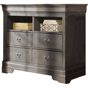 Corbeil 4 Drawer Media Chest by Lark Manor