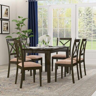 Smyrna Microfiber Upholstery 7 Piece Dining Set Charlton Home