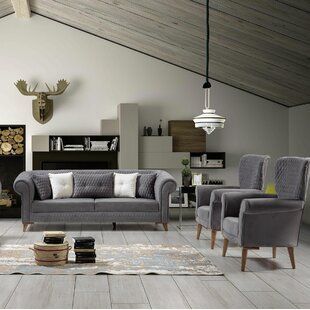 Schwab Leather Configurable Living Room Set By George Oliver