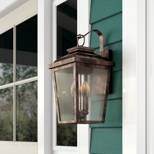 Mayhugh 3-Light LED Outdoor Wall Lantern