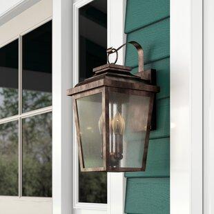 Mayhugh 3-Light LED Outdoor Wall Lantern
