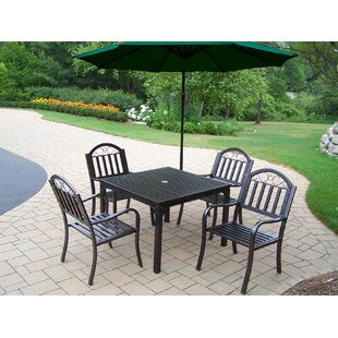 Red Barrel Studio Lisabeth 5 Piece Dining Set with Umbrella