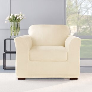 Stretch Plush 2 Piece Chair Slipcover Set