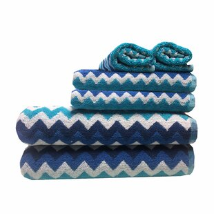 Barahona 6 Piece Cotton Towel Set