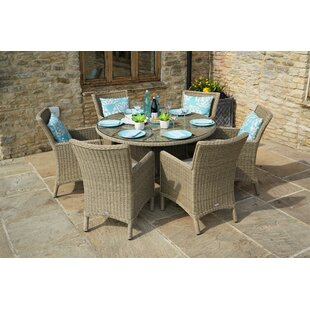Peninsula 6 Seater Dining Set With Cushions (Set Of 5) By Sol 72 Outdoor