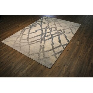 Best Magpie Abstract Black/Beige Area Rug By 17 Stories