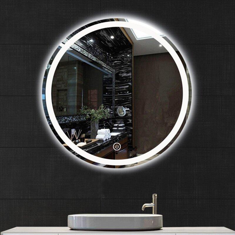 Orren Ellis Lamatan Frameless Lighted Vanity Mirror Wayfair