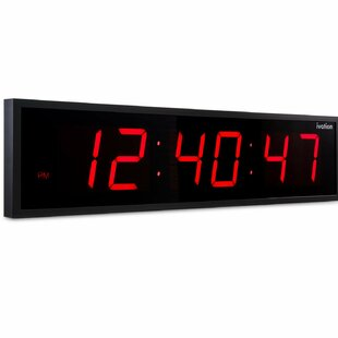 Day date clock large display