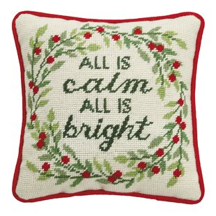 Bocana All is Calm Needlepoint Throw Pillow