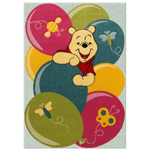 For Kids Winnie Blue/Pink/Green Area Rug by Castleton Home