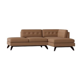 Luna Double Bumper Loft Sectional by TrueModern