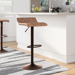 Morgana Adjustable Height Swivel Bar Stool by Wade Logan