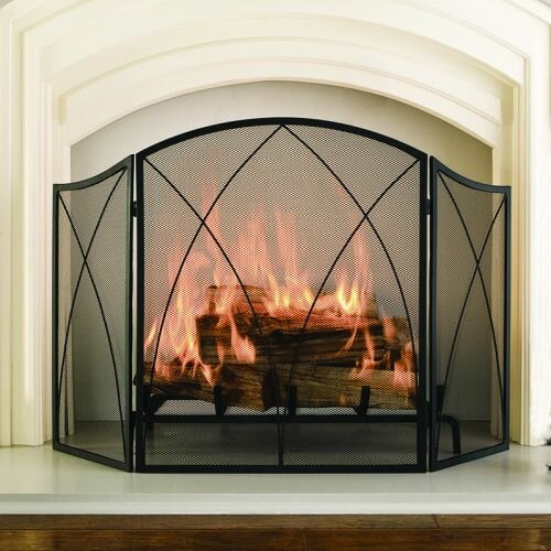 Pleasant Hearth Arched 3 Panel Fireplace Screen & Reviews   Wayfair