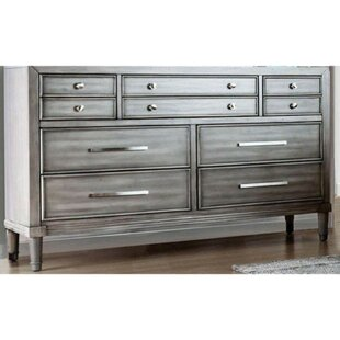 Lohan 10 Drawer Double Dresser by Rosdorf Park Best