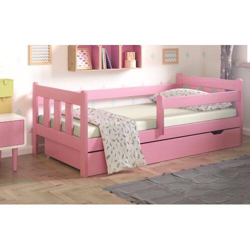 Funktionsbett Neo mit Schublade | Schlafzimmer > Betten > Funktionsbetten | Rosa | Massivholz | Nordville
