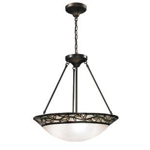 Springdale Lighting Cyprus Oaks 3-Light Bowl Pendant