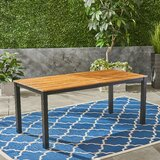 Corinne Solid Wood Dining Table