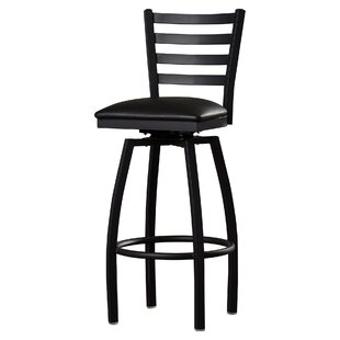 Bartlet 32 Swivel Bar Stool with Cushion by Andover Mills
