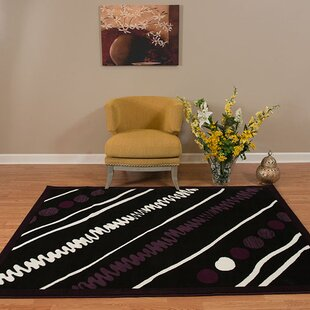 Find a Eloise Black/White Area Rug By Ebern Designs