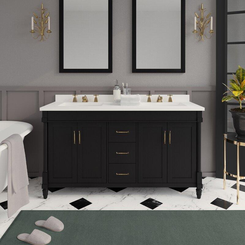 Martha Stewart Skylands Highfield 60 Double Bathroom Vanity Set Wayfair
