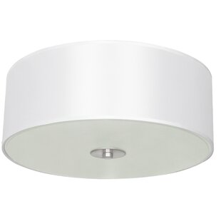 Brayden Studio Calverton Fabric 2-Light Flush Mount