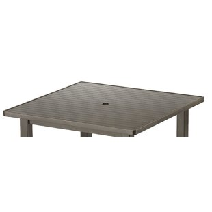Check Out Aluminum Slat Square 36 inch  Chat Table Best reviews