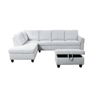 Thetford Sectional With Ottoman by Three Posts Cheap
