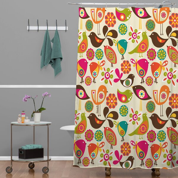 East Urban Home Little Birds Shower Curtain Reviews
