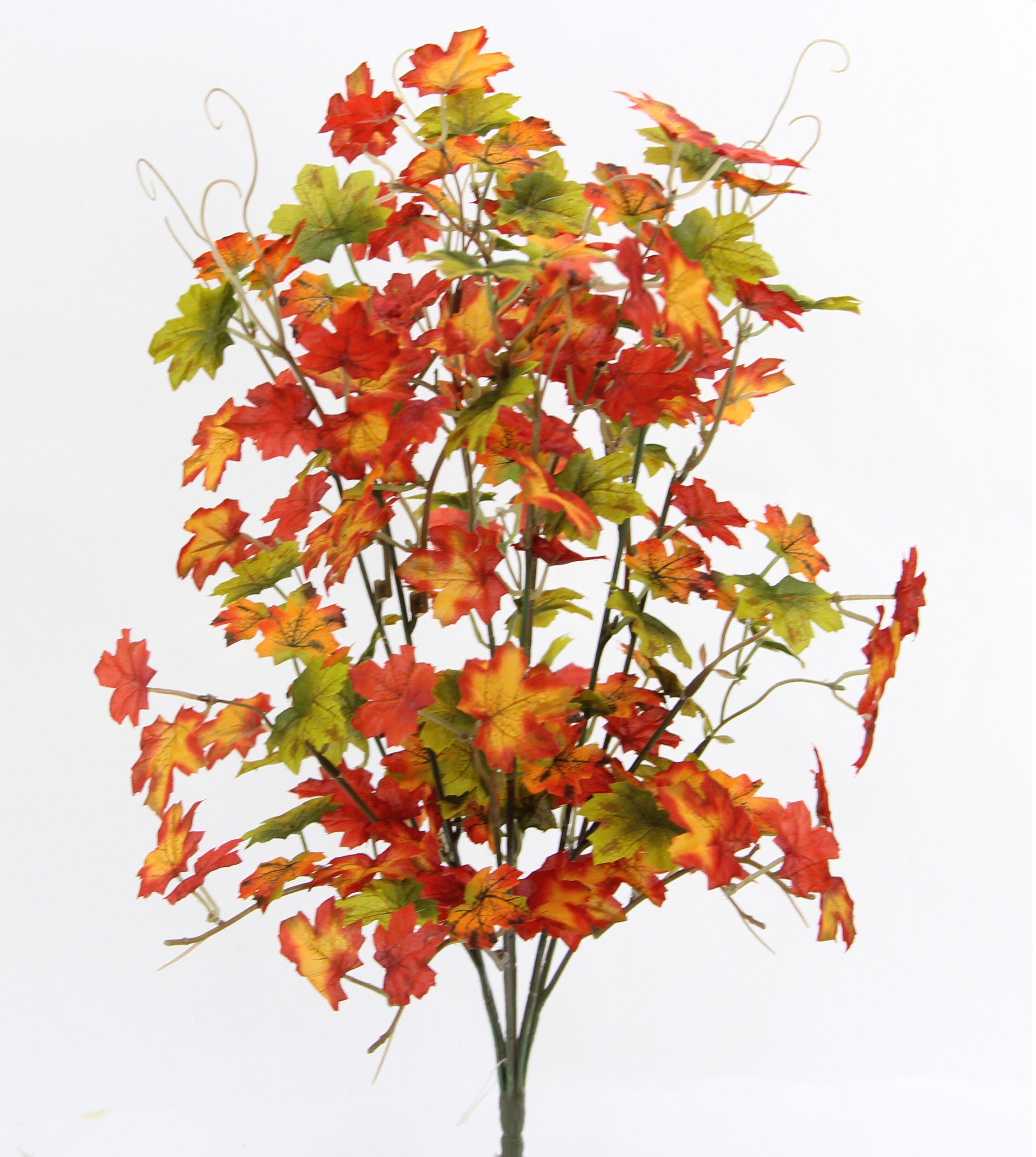 Loon Peak Artificial Maple Floral Arrangement Reviews Wayfair